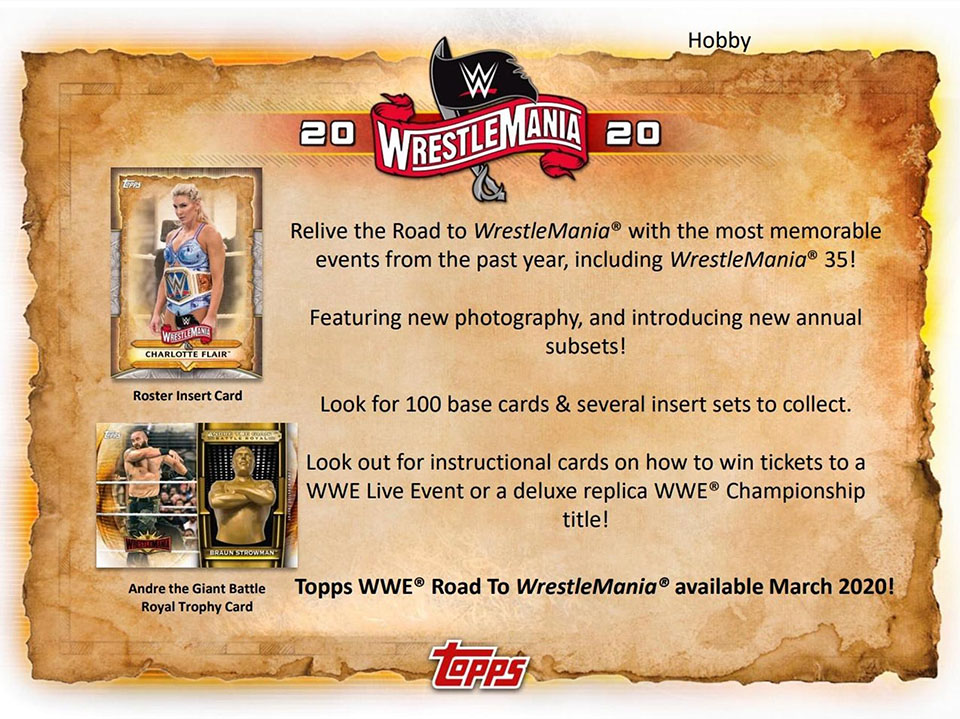 2020 Topps Road to Wrestlemania Wrestling