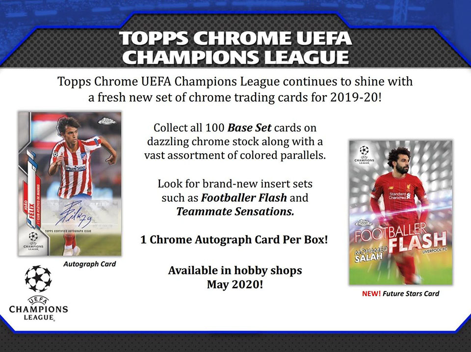 2019-20 Topps Chrome UEFA Champions League Soccer