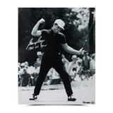 GARY PLAYER AUTOGRAPHED & INSCRIBED '65 FIST PUMP PHOTO