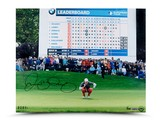 RORY MCILROY AUTOGRAPHED SCOREBOARD PHOTO