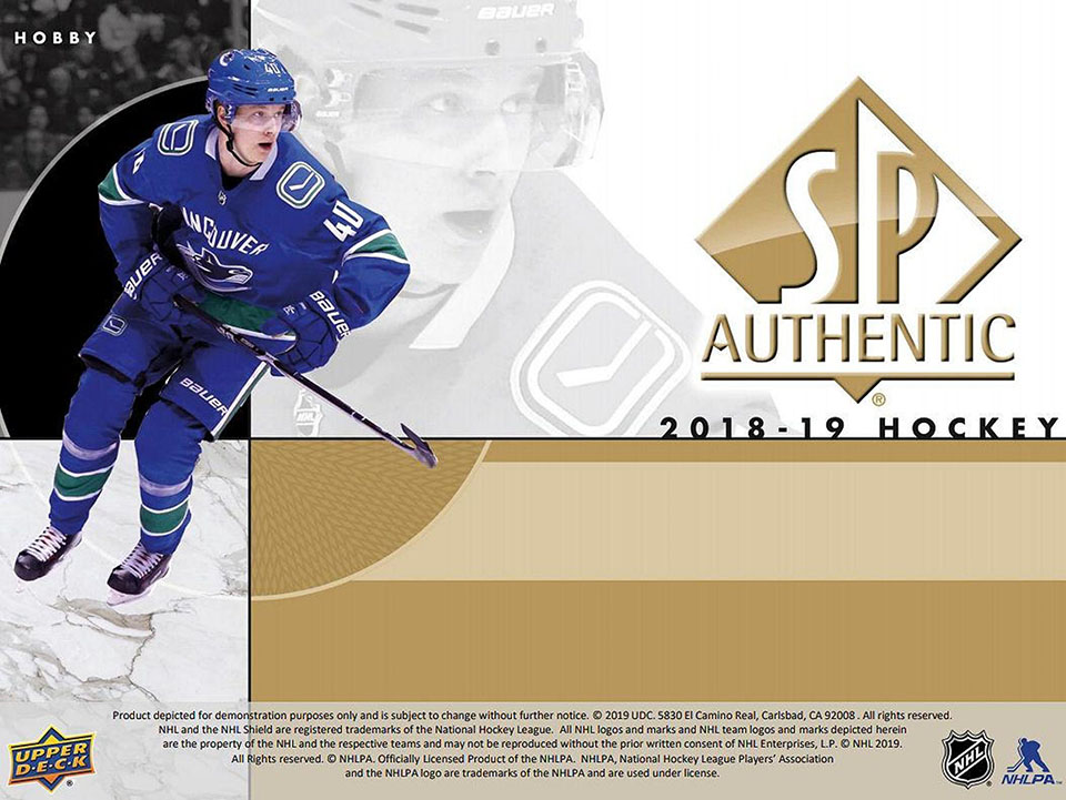 2018-19 Upper Deck SP Authentic Hockey