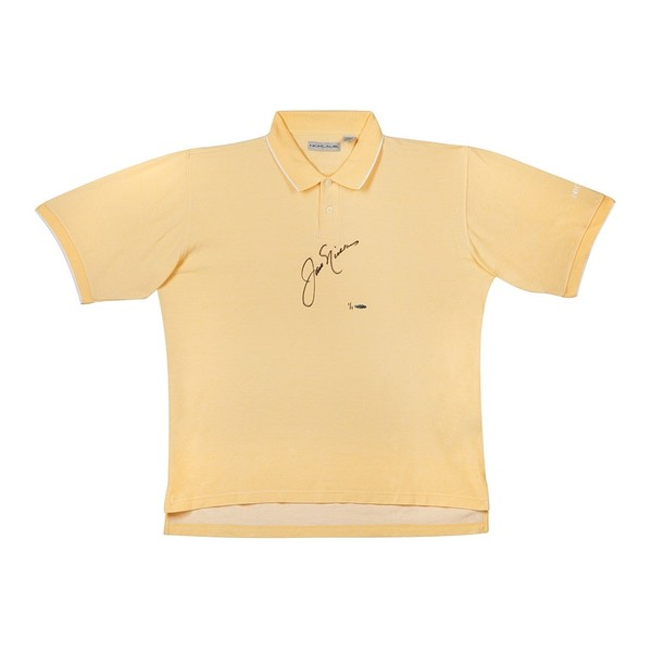 JACK NICKLAUS TOURNAMENT-WORN POLO YELLOW 1 COLLAR STRIPE
