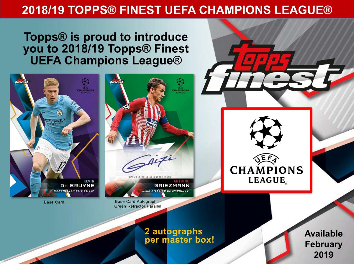 2019 Topps Finest UEFA Champions League
