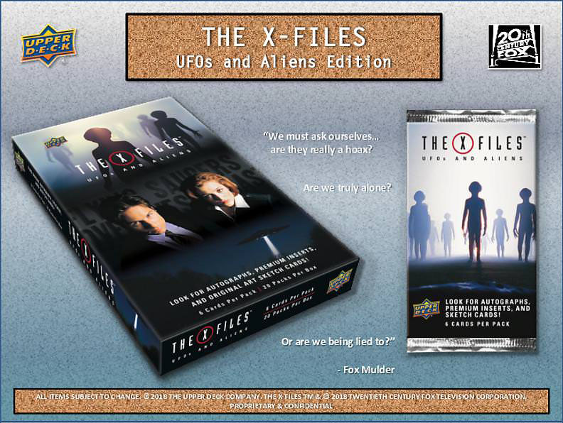 Upper Deck The X-Files - UFO's and Aliens Edition Box