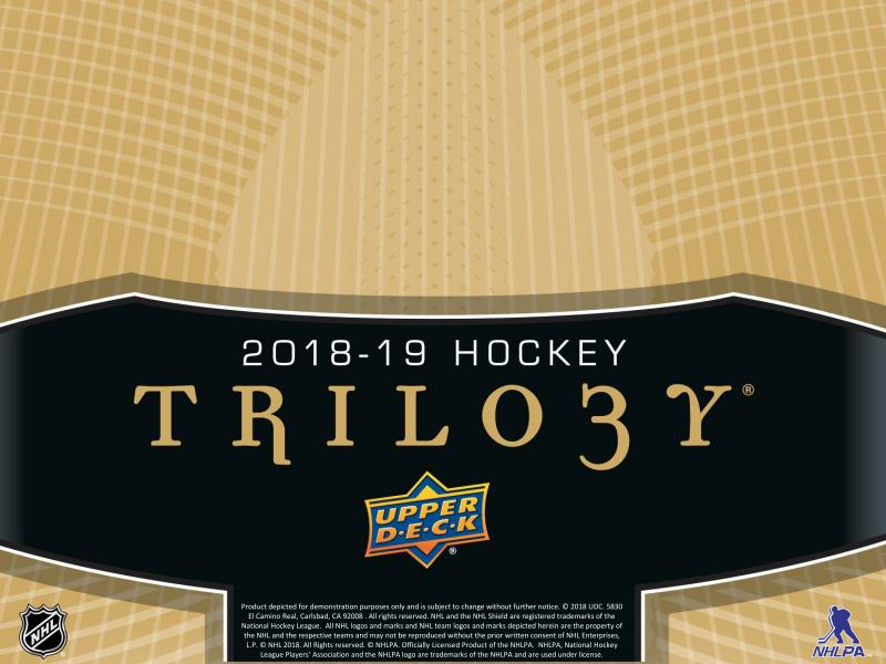 2018-19 Upper Deck Trilogy Hockey Hobby