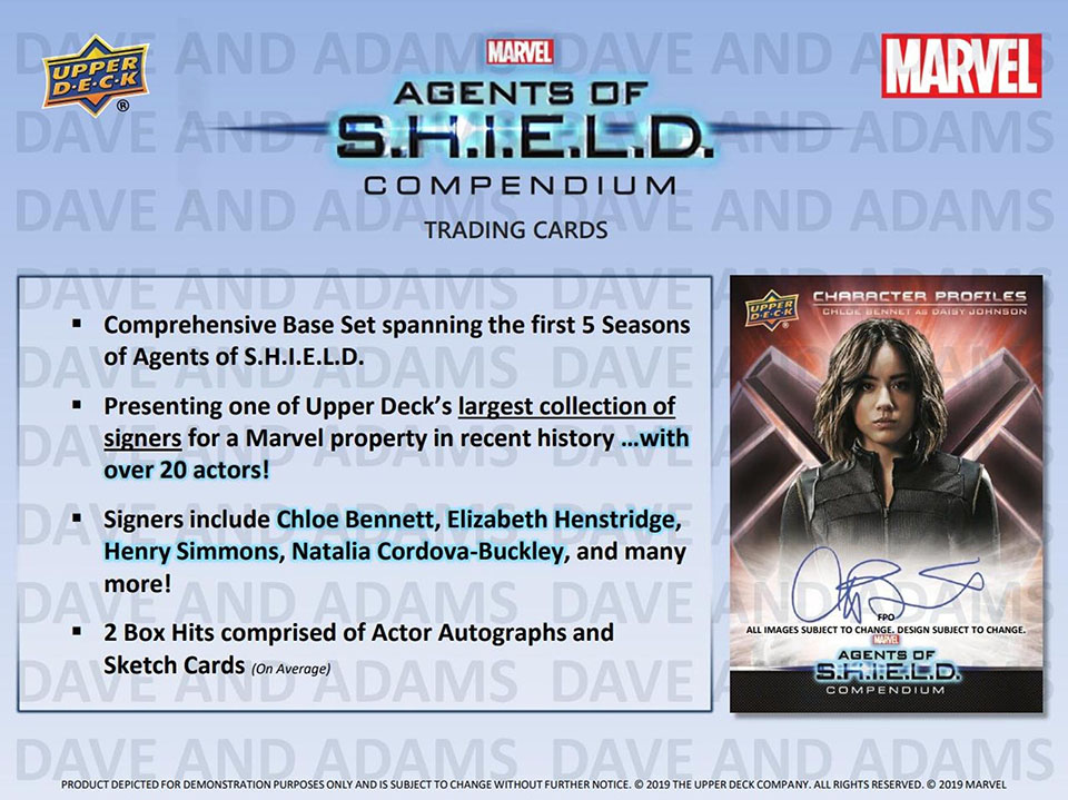 2019 Upper Deck Marvel Agents of SHIELD Compendium