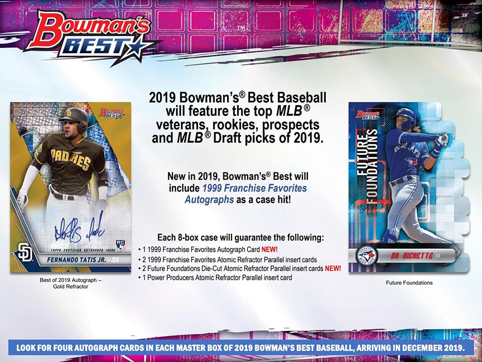 2019 MLB Bowman's Best baseball