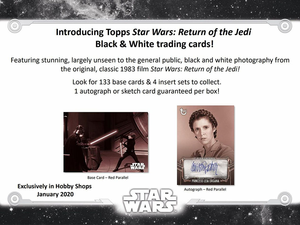 2020 Topps Star Wars: Return of the Jedi Black & White