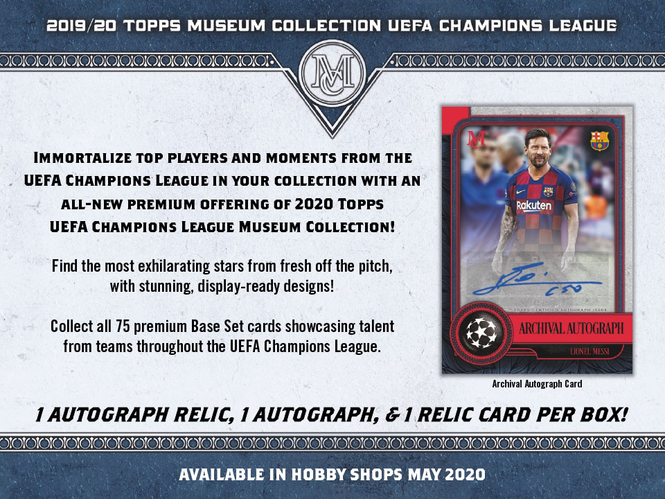 2019-20 Topps Museum Collection UEFA Champions League Soccer